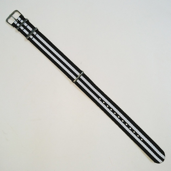 Stripes Black White Strap