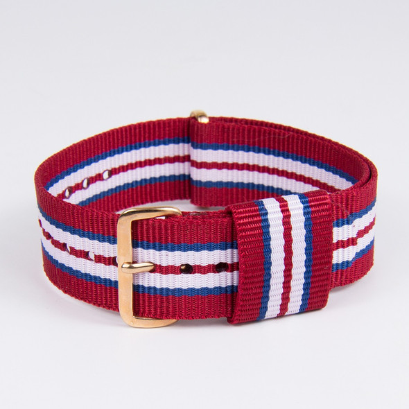 20MM STRIPED  RED WHITE BLUE