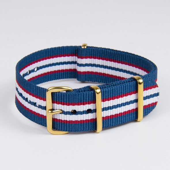 20mm Striped  Blue Red White