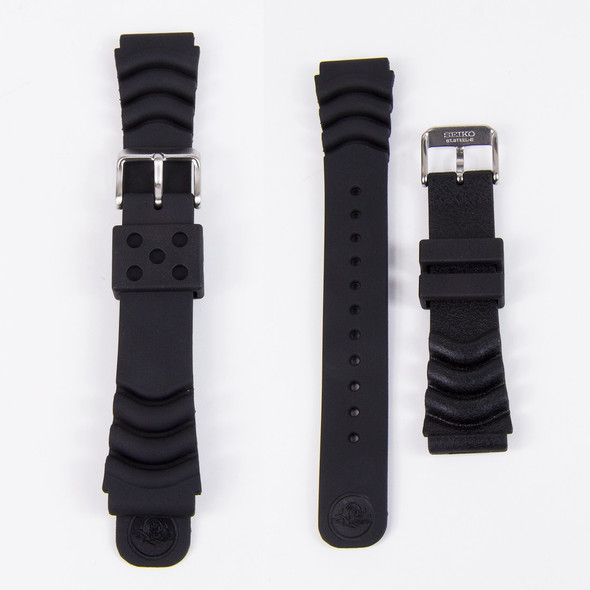 ORIGINAL SEIKO RUBBER STRAP 20MM