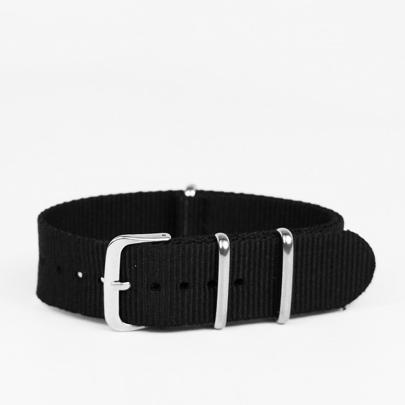 22MM NYLON BLACK STRAP 22ACN413