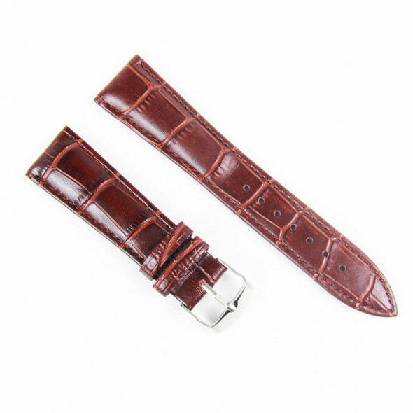 22MM BROWN LEATHER STRAP 22C02