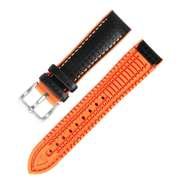20MM HYBRID BLACK ORANGE STRAP 20A8056-05