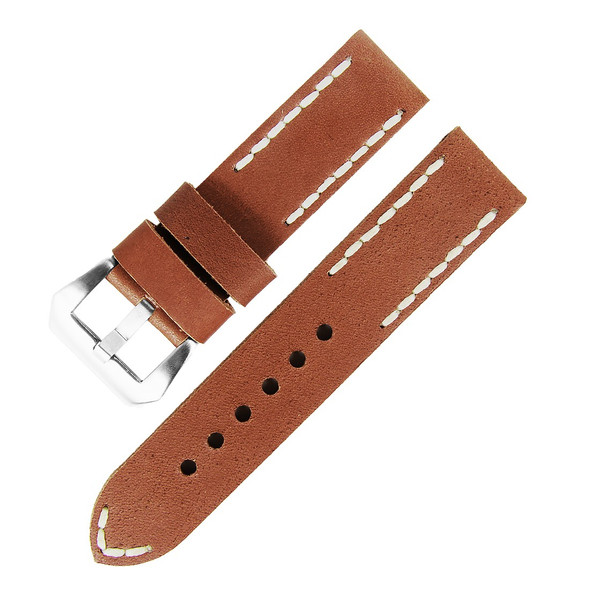 22MM GENUINE LEATHER WATCH STRAP BROWN 22APA61-02