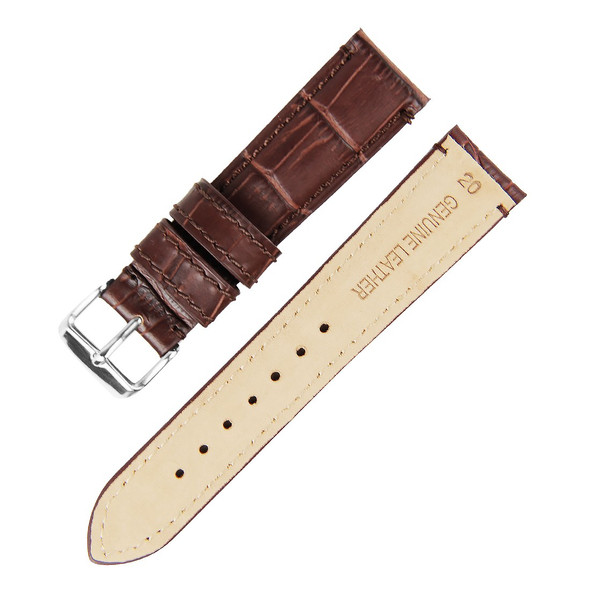 20MM BROWN GENUINE LEATHER WATCH STRAP