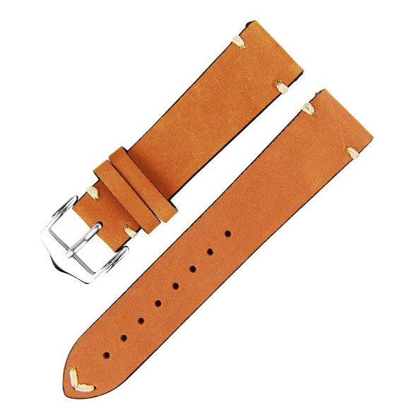 LIGHT BROWN SUEDE LEATHER WATCH STRAP