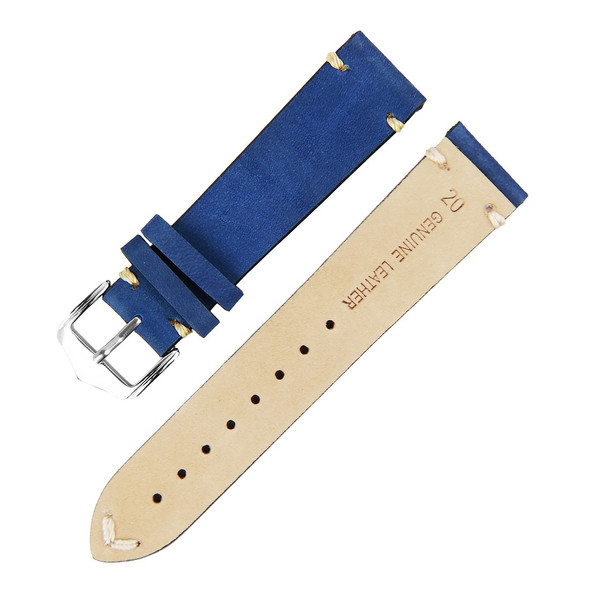 BLUE SUEDE LEATHER WATCH STRAP