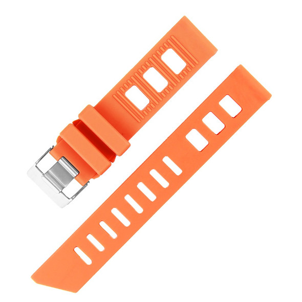 20MM ORANGE SILICONE RUBBER WATCH STRAP
