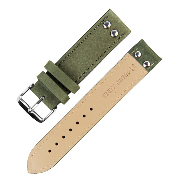 ARMY GREEN SUEDE LEATHER WATCH STRAP