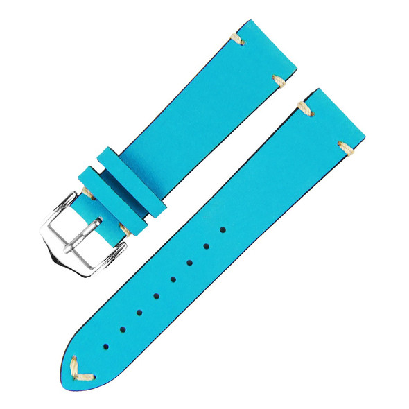 20MM LIGHT BLUE SUEDE LEATHER WATCH STRAP