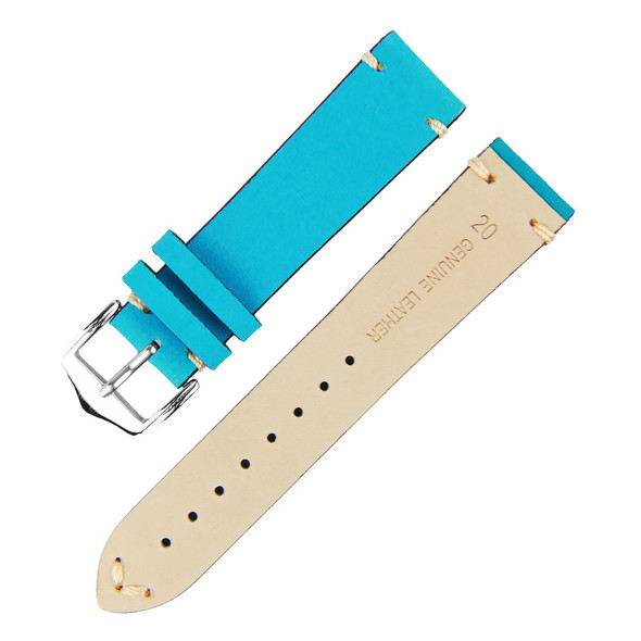 LIGHT BLUE SUEDE LEATHER WATCH STRAP