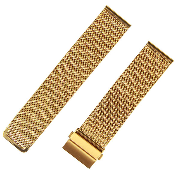 MESH STAINLESS STEEL GOLD WATCH STRAP