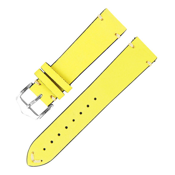 20MM YELLOW SUEDE LEATHER WATCH STRAP