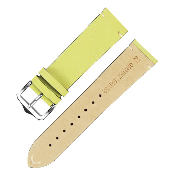 22MM GENUINE LEATHER APPLE GREEN SUEDE WATCH STRAP