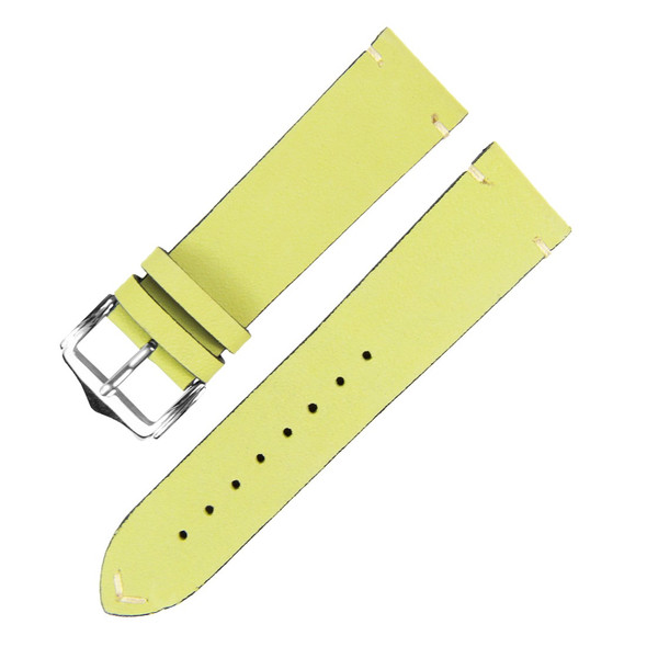 GENUINE LEATHER APPLE GREEN SUEDE WATCH STRAP