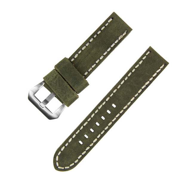22MM GREEN SUEDE LEATHER WATCH STRAP