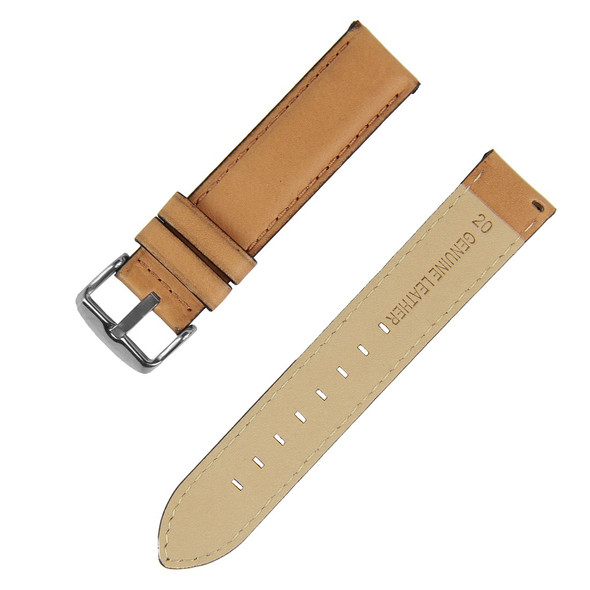 18mm Light Brown Leather Watch Strap