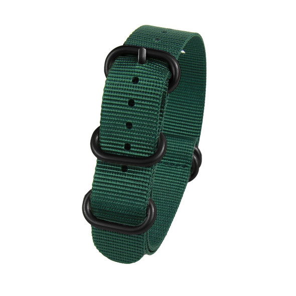 18MM PINE GREEN NYLON ZULU STRAP