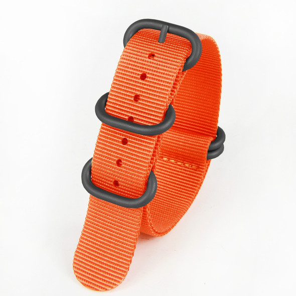 22MM ORANGE NYLON ZULU STRAP