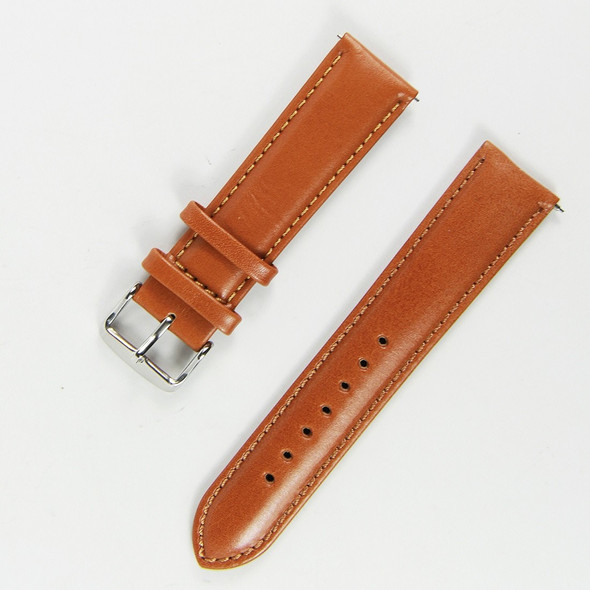 22MM GENUINE LEATHER LIGHT BROWN LEATHER WATCH STRAP