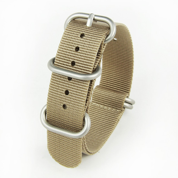 20MM SANDCASTLE TAN NYLON ZULU STRAP