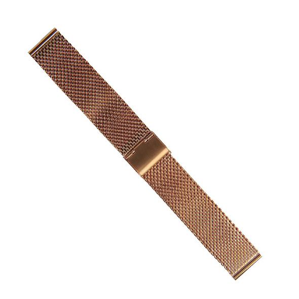 18MM MESH STAINLESS STEEL ROSE GOLD WATCH STRAP