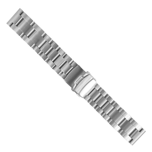 24MM STAINLESS STEEL SILVER WATCH STRAP