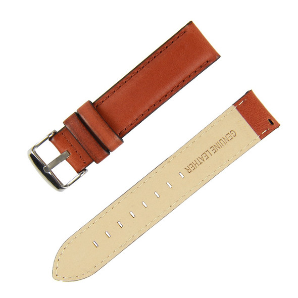 22MM BROWN LEATHER WATCH STRAP