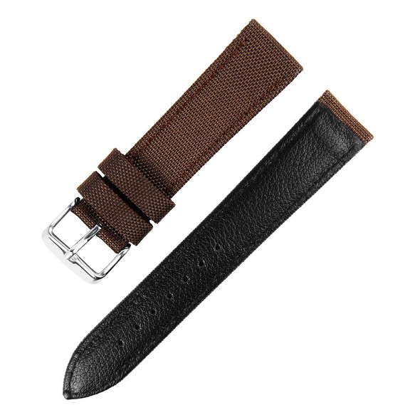 22MM BROWN NYLON WATCH STRAP