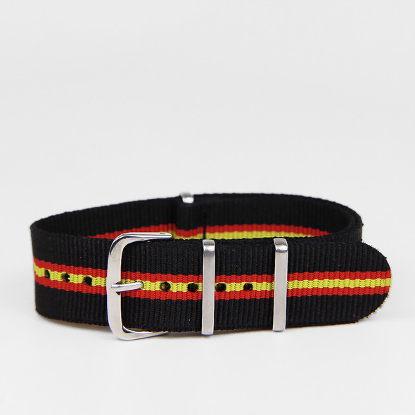 20MM STRAP BLACK RED YELLOW
