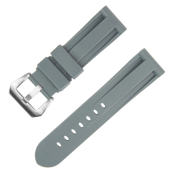 24MM GREY RUBBER WATCH STRAP
