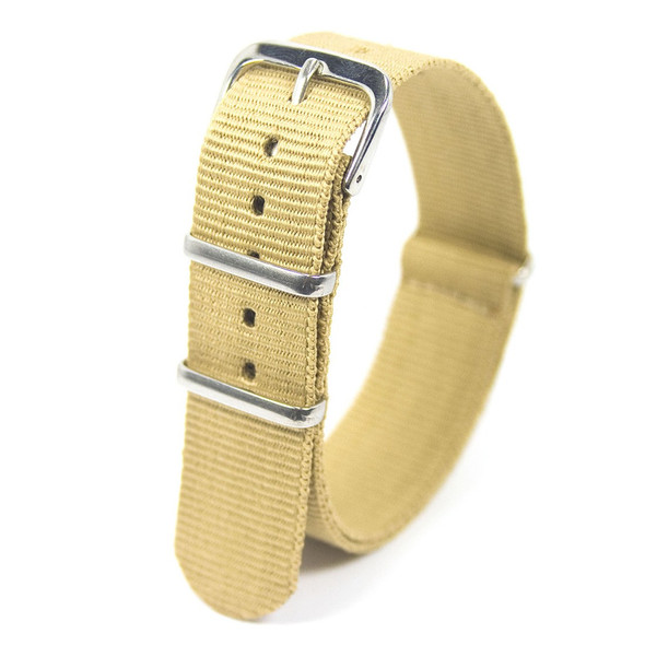 20MM BEIGE NYLON WATCH STRAP
