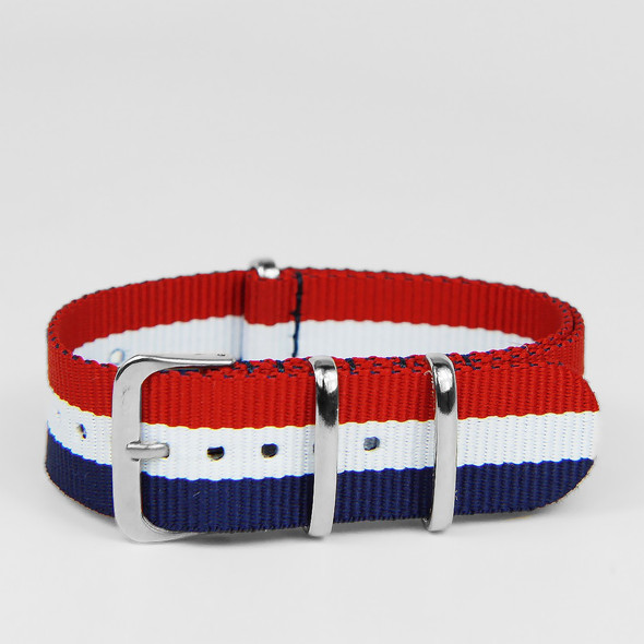24MM STRAP RED WHITE NAVY