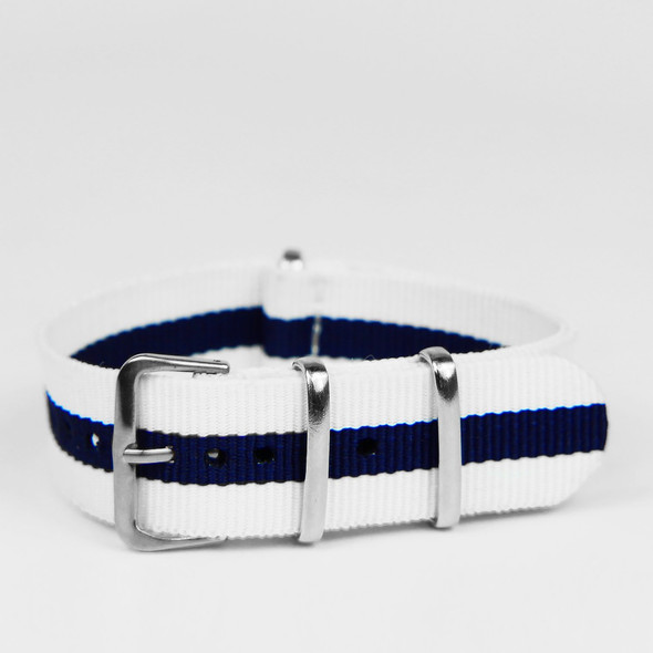 20MM STRAP WHITE NAVY