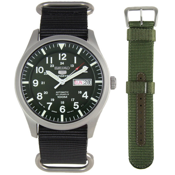 Seiko 5 Sports Military Male Watch SNZG09J1