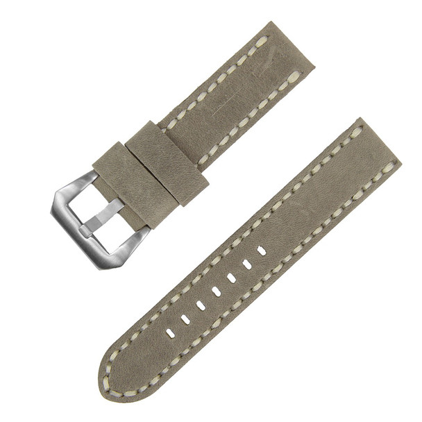 22MM GREY SUEDE LEATHER WATCH STRAP