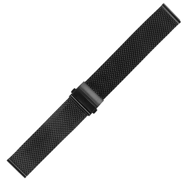 STAINLESS STEEL BLACK MESH WATCH STRAP