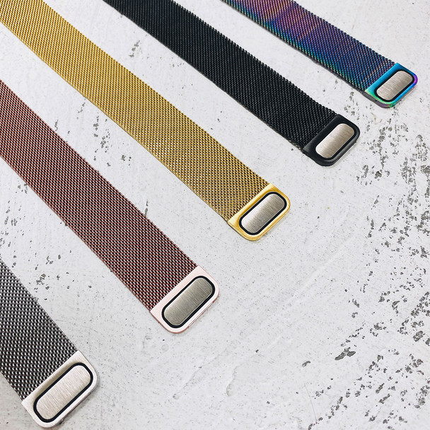 Magnetic Milanese 42APPMESHS Silver Stainless Steel Mesh Apple Watch Strap