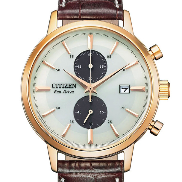 Citizen CA7063-12A Leather Watch
