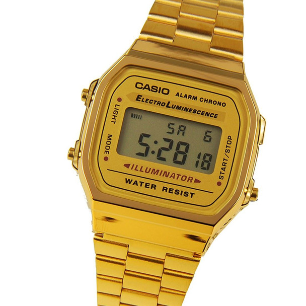 Casio retro Mens Digital Alarm Watch A168WG A168WG-9