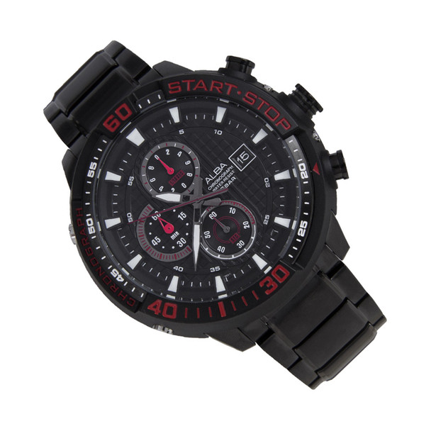 Alba SignA Chrono Mens Black Sports Stopwatch Watch AM3099X1 AM3099X
