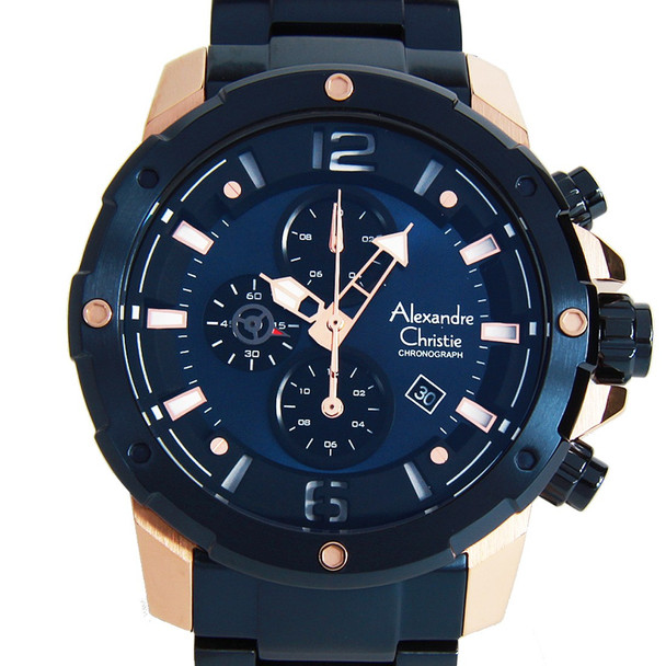 Alexandre Christie 6410MCBURBU Chronograph Watch