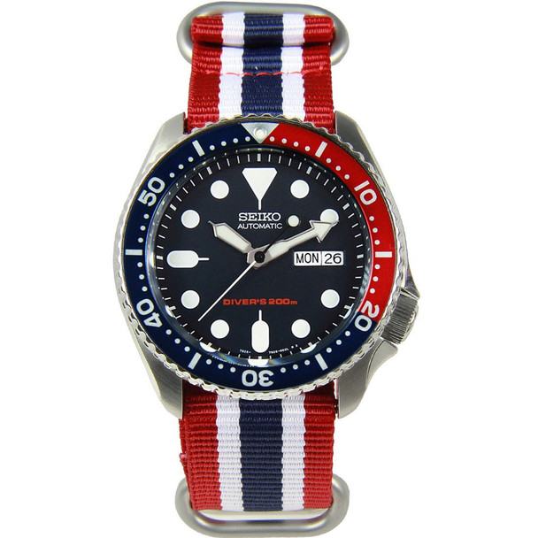 SKX009K1 SKX009 Seiko Diving Male Watch w/ extra band