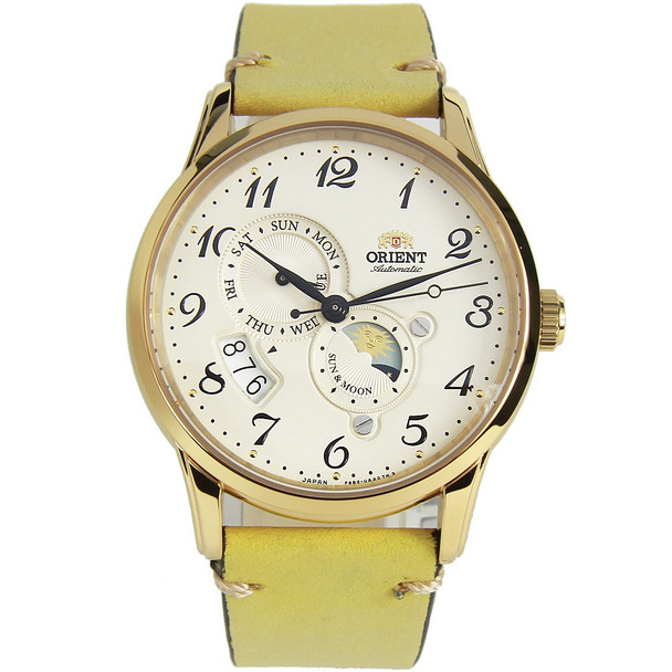 Orient Sun & Moon Watch RA-AK0002S00C with extra strap