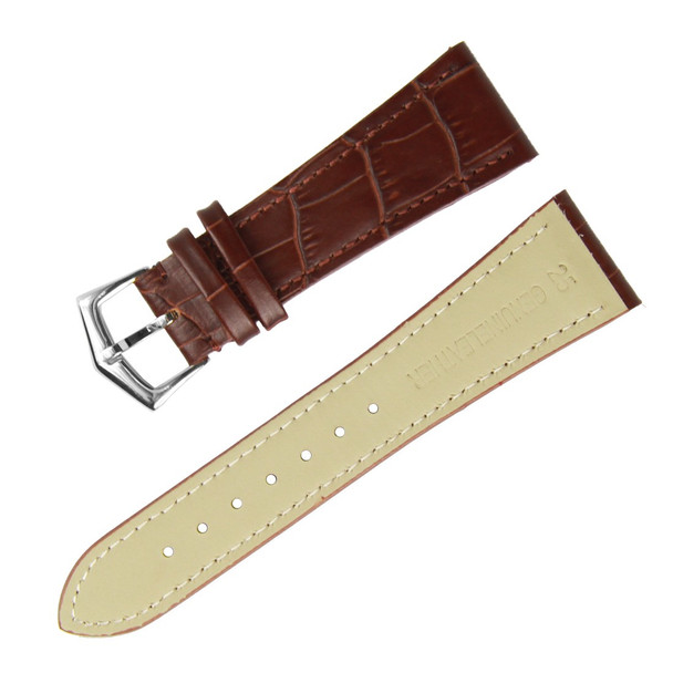 25MM GENUINE LEATHER BROWN WATCH STRAP