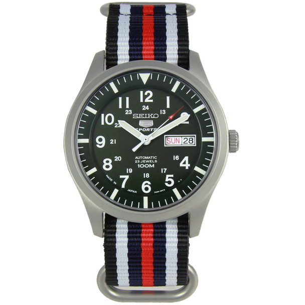 Seiko 5 Sports Military Mens Watch SNZG09J1