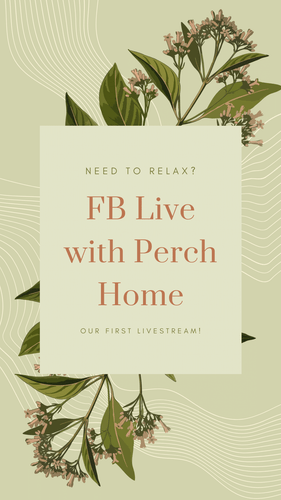 Our first FaceBook Live...not quite QVC yet...