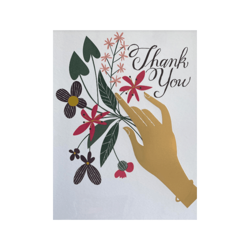 Gold Hand Thank You Card