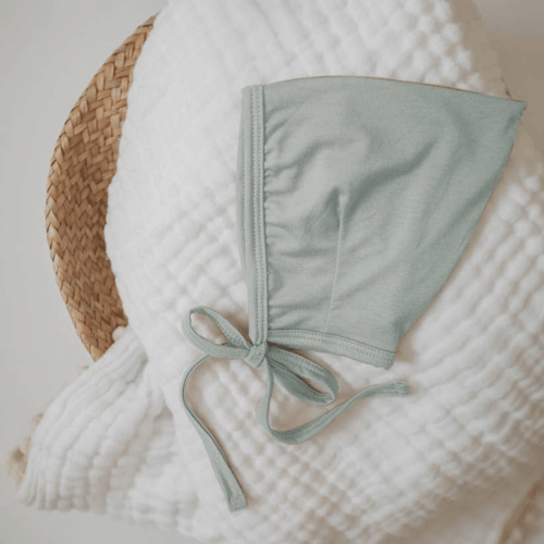 Sage Bamboo Baby Bonnet Hat