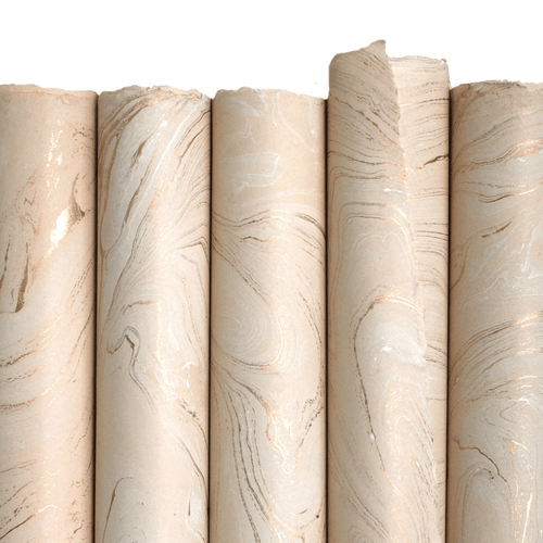 Cream and Gold Marble Paper Sheet